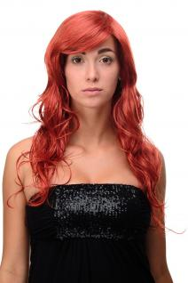 Lange Perücke Rot Feuerrot gewelltes leicht lockiges Haar ca. 70 cm 9669EL-137