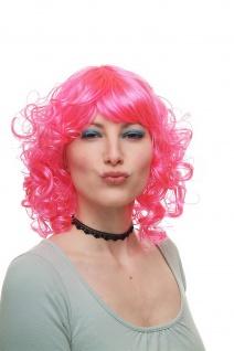 Karneval Fasching Perücke Cosplay Lolita Pink Locken Schulterlang 68048-PC5