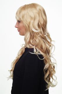 Damen Perücke Blondmix Locken Wellig Lang Seitenscheitel ca. 70 cm 9204S-15BT613 - Vorschau 2