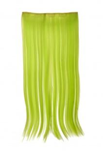 Haarteil Extension breit Haarverlängerung 5 Clips glatt Neongrün YZF-3177-TF2606