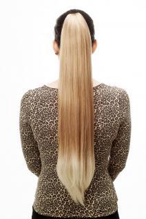 Haarteil/Zopf, sehr lang, glatt, Butterfly-Klammer, 70cm, Blond-Mix, T113-27T613