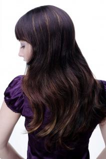 Damen Perücke braun leichte helle Strähnen glatt langes Haar 9213-2T33-27 NEU - Vorschau 4