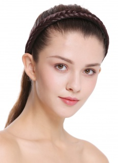Haarband Haarreif geflochten Tracht traditionell braun braid CXT-001-035