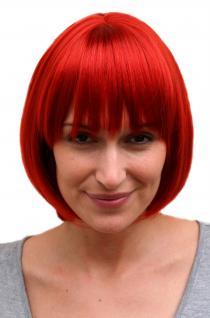 Sexy Perücke Bob Feuer Rot unwiderstehlich Femdom kurzes Haar ca. 25 cm 742-135