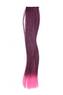 2 CLIP Extension Strähne Haarverlängerung Pink glatt 45cm YZF-P2S18-1BTT2124