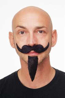 Bart zum Ankleben Spanier Kardinal Musketier Schnurrbart + Goatee schwarz MM-031
