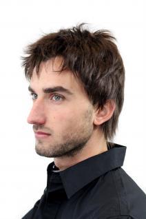 Herrenperücke, Wig, Männer, Men, Braun, Brown, Kurz, Länge: ca. 10 cm, GFW1169-6 - Vorschau 4