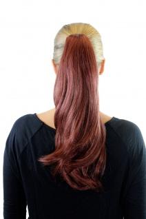 Extension Pferdeschwanz Haarteil Rot Zopf Butterfly-Klammer glatt 45cm XF-0063A