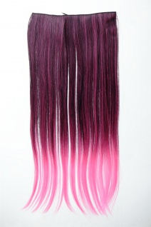 Extension Haarverlängerung Clip-In 5 Clip glatt zweifarbig Ombre Rot 60cm lang
