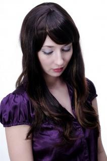 Damen Perücke braun leichte helle Strähnen glatt langes Haar 9213-2T33-27 NEU - Vorschau 2