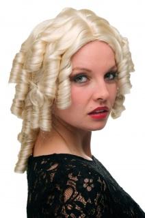 Perücke hell-blond Mittelalter Pirat Spirallocken Biedermeier Barock 6006A-613
