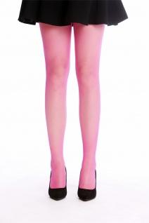 Netz-Strumpfhose Pantyhose Damenkostüm Karneval Halloween Pink Neonpink S/M - Vorschau 2