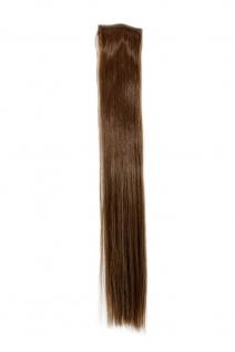 2 Clips Extension Strähne glatt Hell-Braun YZF-P2S18-10 45cm Haarverlängerung