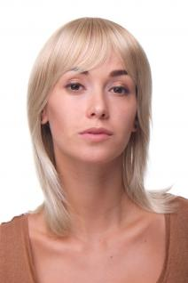 Damen Perücke: blond WILDER SCHNITT & SEXY PONY halblange Haare MA-255-27T613