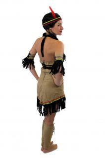 Tolles Set: Kostüm Damen Damenkostüm Indianerin Squaw Indianerfrau L019 XS, S, M, L - Vorschau 4