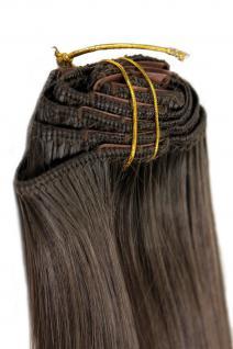 Clip-In, Achtteilig, Komplett-Set, Extensions, Haarverlängerung, braun, 40 cm, EX03-8