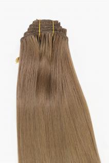 Clip-In, Achtteilig, Set, Extensions, Haarverlängerung, dunkelblond, 40 cm, EX03-GGO-12