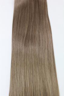 Clip-In, Achtteilig, Set, Extensions, Haarverlängerung, dunkelblond, 40 cm, EX03-GGO-14