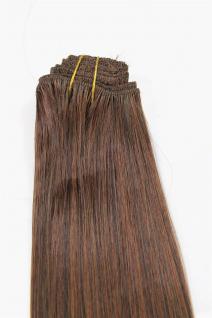 Clip-In, Achtteilig, Set, Extensions, Haarverlängerung, Braunmix, 40 cm, EX03-GGO-2T30
