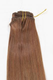 Clip-In, Achtteilig, Set, Extensions, Haarverlängerung, Rehbraun, 40 cm, EX03-GGO-30