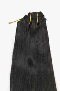 Clip-In, Achtteilig, Set, Extensions, Haarverlängerung, dunkelbraun, 40 cm, EX03-GGO-4