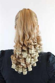 Haarteil Zopf Blond-Mix ca.35cm Korkenzieherlocken Butterfly-Clip FW-T164-27T613