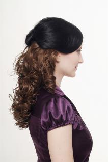 Haarteil, Halbperücke, Clip, Extension, lockig, braun, Länge: ca. 40cm, H9312-10 - Vorschau 2