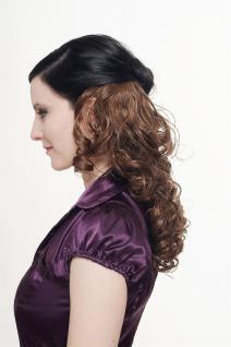 Haarteil, Halbperücke, Clip, Extension, lockig, braun, Länge: ca. 40cm, H9312-10 - Vorschau 3