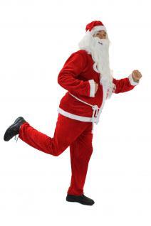 Kostüm WEIHNACHTSMANN Santa Claus NIKOLAUS X-Mas Mantel Advent Weihnachten K42