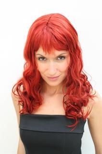 Perücke rot feurig Vamp Diva Party Fasching Karneval Damen Frauen Wig Red NEU