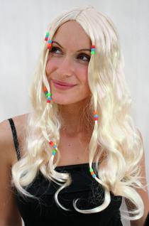 Beatnik Perücke blond mit Perlen