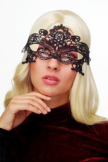 Karneval Maske Damenmaske Schwarze Spitze Halbmaske Maskenball Gothic LS-001 - Vorschau 1