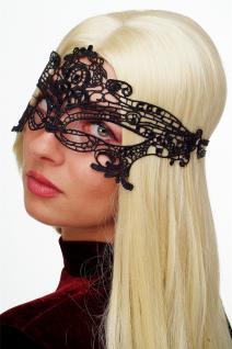 Karneval Maske Damenmaske Schwarze Spitze Halbmaske Maskenball Gothic LS-001 - Vorschau 2
