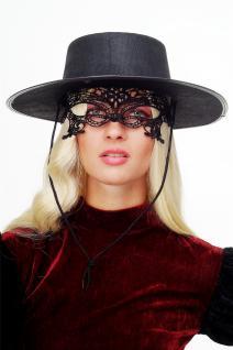 Karneval Maske Damenmaske Schwarze Spitze Halbmaske Maskenball Gothic LS-001 - Vorschau 3