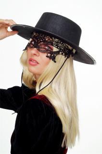 Karneval Maske Damenmaske Schwarze Spitze Halbmaske Maskenball Gothic LS-001 - Vorschau 4