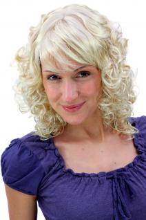 Perücke MÄRCHENHAFT ROMANTISCH blond gelockte Spitzen halblang 45 cm MC008-202