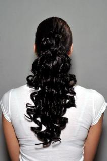 Haarteil schwarz gelockt NC-218-2