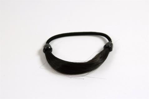 Unsichtbarer Haargummi in Haaroptik Kunsthaar Zopfgummi Dunkelbraun NHA-003B-3 - Vorschau 1