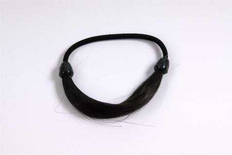 Unsichtbarer Haargummi in Haaroptik Kunsthaar Zopfgummi Dunkelbraun NHA-003B-3 - Vorschau 2