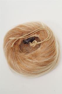 Dutt Haarknoten Bun Haarteil 60er Jahre Vintage Look Blond-Mix NHA-004D-27T613 - Vorschau 3
