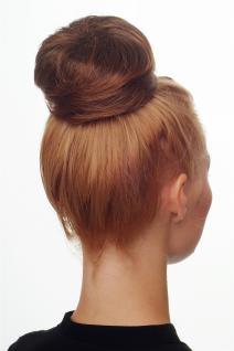 Dutt Haarknoten Bun Haarteil 60er Jahre Vintage Look Braun-Rotbraun-Mix NHA-004D - Vorschau 1