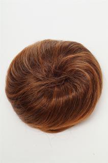 Dutt Haarknoten Bun Haarteil 60er Jahre Vintage Look Braun-Rotbraun-Mix NHA-004D - Vorschau 2