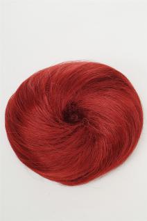 Dutt Haarknoten Haarteil 60er Jahre Vintage Look Rot Auberginenrot NHA-004D-39