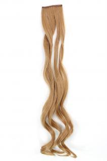 2 Clips Extension Strähne wellig Blond YZF-P2C25-18 65cm Haarverlängerung