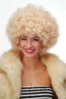 Perücke Afroperücke Afro 70er Jahre Party Funky Disco Foxy Hellblond PW0011-P02
