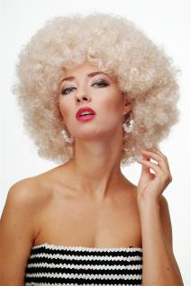Perücke Afroperücke Afro 70er Jahre Party Funky Disco Foxy Hellblond PW0011-P66