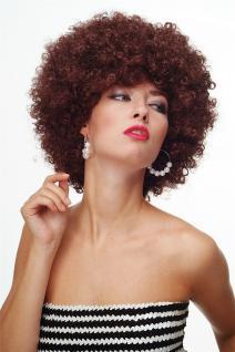 Perücke Afroperücke Afro 70er Jahre Party Funky Disco Mahagonibraun PW0011-P30