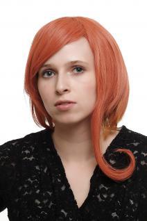 Damenperücke asymmetrische Strähnen Rot SA044 Punk Gothic Visual Cosplay