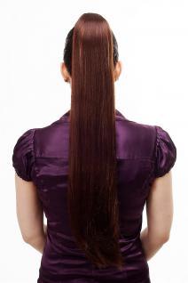 Haarteil/Zopf, sehr lang, glatt, Butterfly-Klammer, 70 cm, Braun-Blond-Mix, T113-33H27