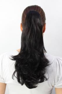 Haarteil glatt schwarz halblang T400-2
